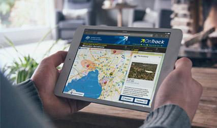 Image showing someone using the OnTrack app on a tablet device