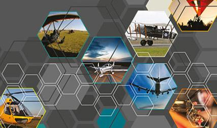 Stylised image for regulation reform showing hexagonal graphics, including aviation related imagery