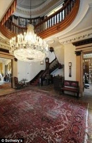 Grand entrance: The 27-room mansion, situated atop a hill at 18-33 41st Street, was originally a summer home for the piano manufacturing Steinway family