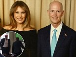 Melania Trump has made a rare political appearance at Mar-a-Lago to take part in a Republican fundraising event