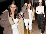 PREMIUM EXCLUSIVE Please contact X17 before any use of these exclusive photos - x17@x17agency.com   Ready for a third child? Kim Kardashian and sister Kourtney have dinner in Beverly Hills to discuss breakup of momager Kris and Corey Gamble march 28, 2017 /X17online.com