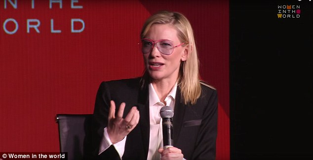 Long time coming: Cate Blanchett, who adopted daughter Edith earlier this year, told Women in the World's Tina Brown she first contemplated adoption 14 years ago