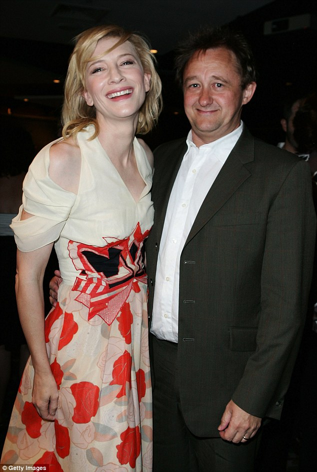Happily married: The 46-year-old actress has three biological sons with her husband of 17 years, Andrew Upton, pictured together in 2010