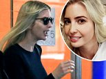 Trimmed tresses: Ivanka Trump got her hair highlighted and cut on Friday at Oscar Blandi Salon (above leaving)
