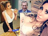 Nigel Farage has denied a glamour model's claims that they kissed and groped each other on a transatlantic flight at 30,000 feet