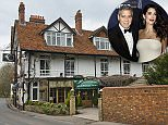 John Grove and his wife Clare were paid to stay in The French Horn for month while £15million renovations took place at the Clooneys' house