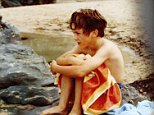 Impending tragedy: Nicky on the beach the day he drowned in August 1978, on a family holiday