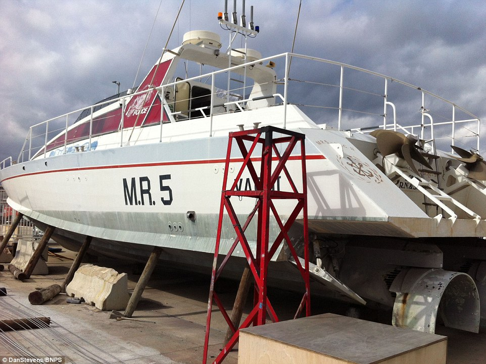 The 72ft boat - worth £1.5million - as it was discovered languishing in a marina in Majorca until it was spotted by sailing fanatic Mr Stevens