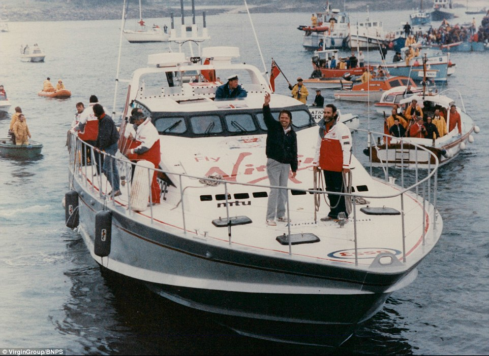 In 1986, Sir Richard Branson made history, smashing the world record for the fastest ever crossing of the Atlantic on the 72ft Virgin Atlantic Challenger II