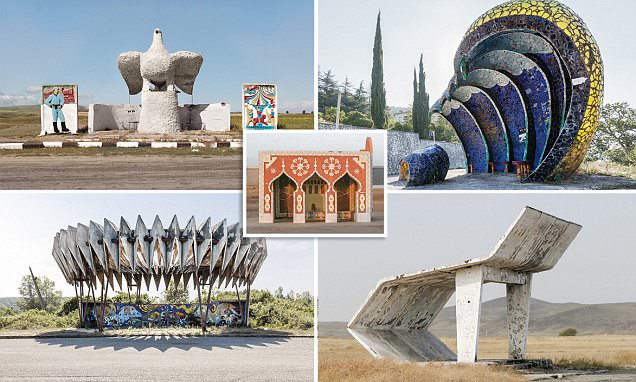 Bizarre bus stops of the former USSR revealed
