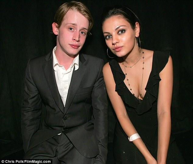 Heartbreak: Culkin with his ex-girlfriend, actress Mila Kunis