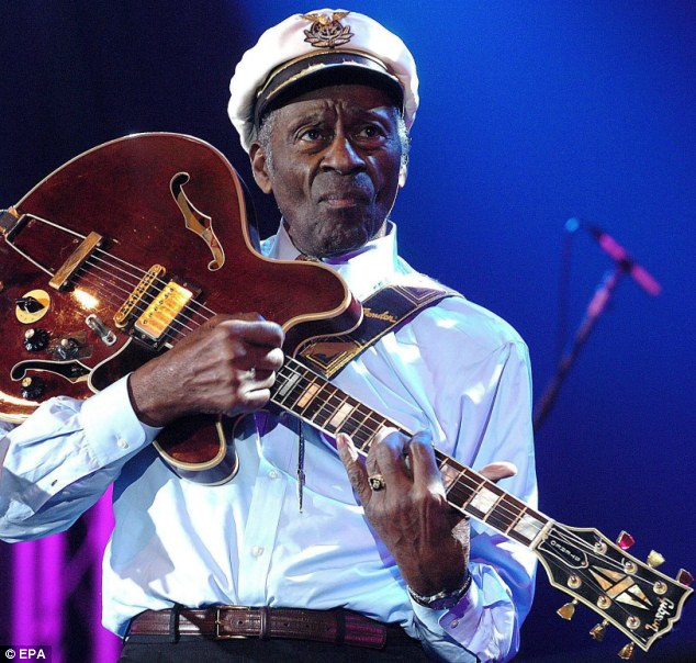 Conviction: Legendary US rocker Chuck Berry, pictured in 2007, was found guilty of 'transporting an underage female across state lines for immoral purposes' in 1960