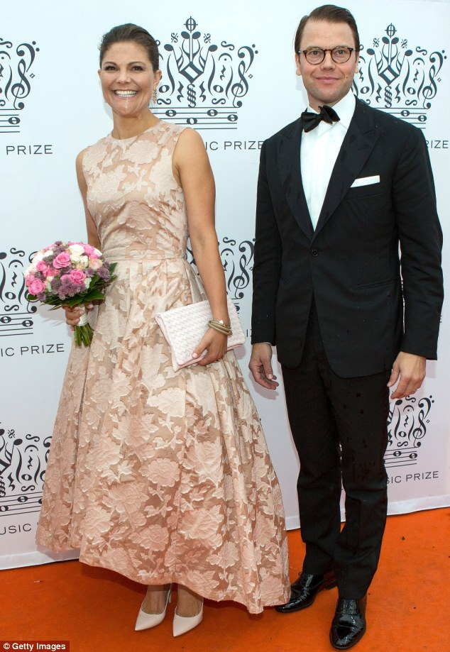 Royal representation: Crown Princess Victoria  and Prince Daniel, whose daughter Princess Estelle started pre-school this week, attended the Polar Music Prize at Stockholm Concert Hall