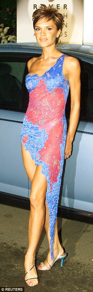 Victoria Beckham, more affectionately know as Posh Spice, arrives at the British Fashion Awards in 2000