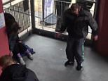 This shocking footage shows a man frozen in position after allegedly taking the drug spice