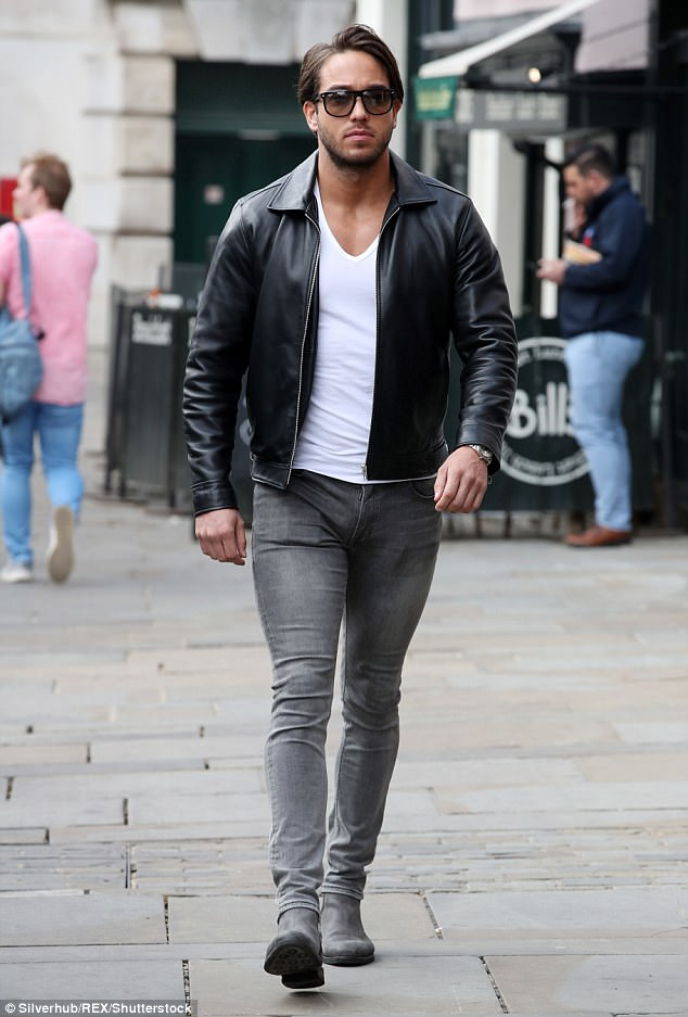 Make way: TOWIE veteran James Locke walked with purpose as he arrived at the Colchester venue