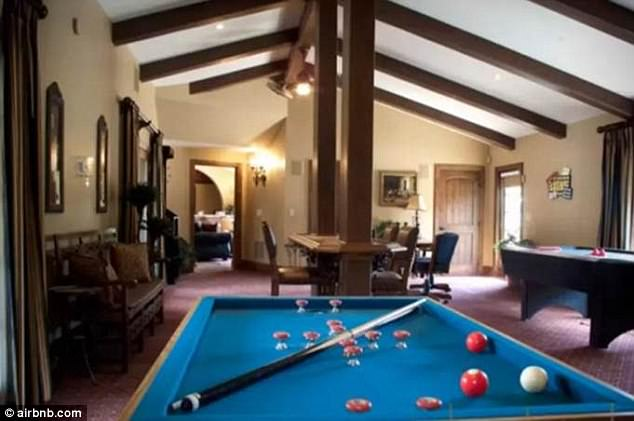 Something for everyone:Inside, the Magic Mike stars also had a spot to let off steam and get competitive as the property features a games room complete with pool table, poker table, bar, air hockey and plenty of televisions
