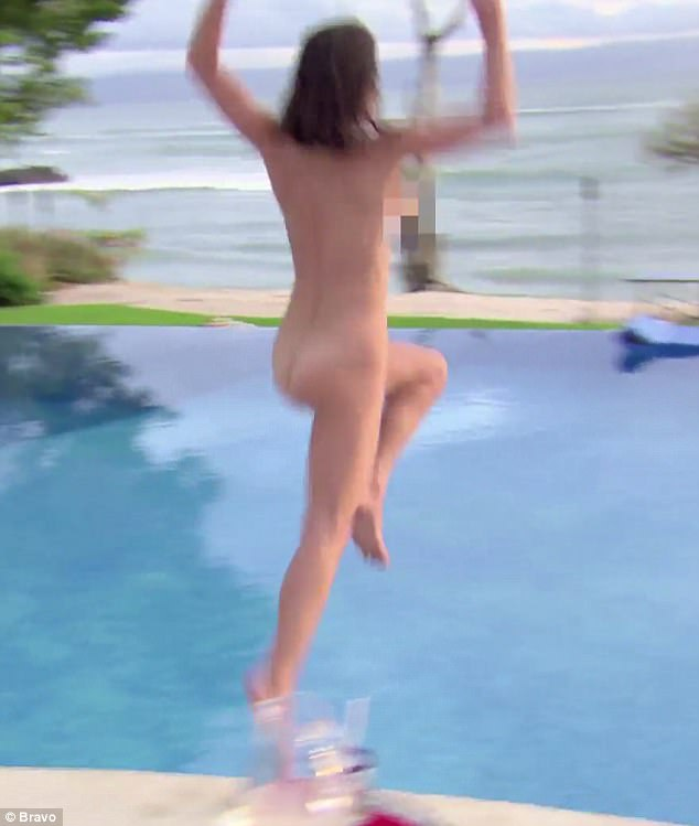 Going wild: No doubt the upcoming season of the Real Housewives Of New York will be interesting as the season 9 trailer released last month saw her going skinny dipping