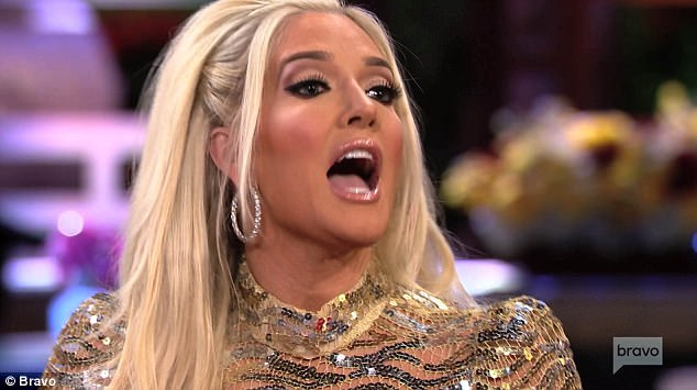 Hitting back: Erika Girardi lashes out at her Real Housewives of Beverly Hills co-stars in the first part of the reunion show