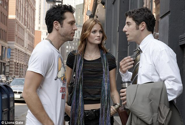 In the beginning: Jason and Jenny had both acted in the 2008 film My Best Friend's Girl with Dane Cook (left)