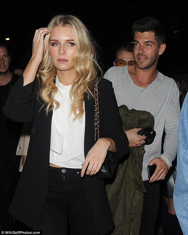 Gorgeous: Lottie looked every inch the fashion darling in her ensemble, which was completed with a sensational black blazer