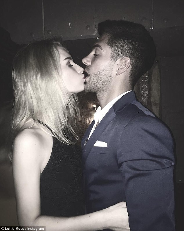 Explosive: Lottie and Alex's outing comes as a nice surprise as the duo were recently seen in the midst of a shouting match after his 'drunken behaviour' at a nightclub event, with an emotional Lottie overheard screaming, 'It's done' as he was ejected from the bash