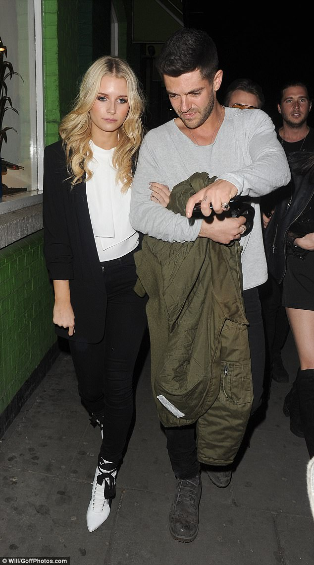 Stepping out: Lottie Moss, 19, proved that things were on the mend with beau Alex Mytton as the duo headed out hand in hand to Jak's restaurant in Chelsea on Wednesday night