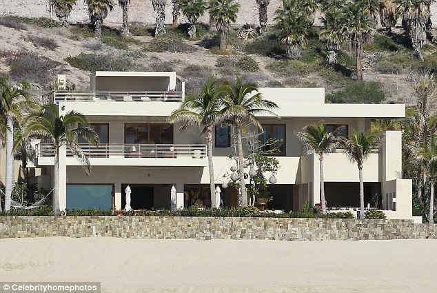 Missed each other: The new purchase  comes exactly a year after the two couples sold their side-by-side Mexican getaways for a cool £80 million