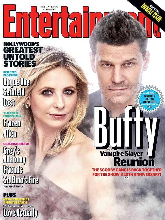 Reunited and it feels so good... Entertainment Weekly gathered cast members from the hit series, including Sarah Michelle Gellar and David Boreanaz, 47, to celebrate the show's 20th anniversary