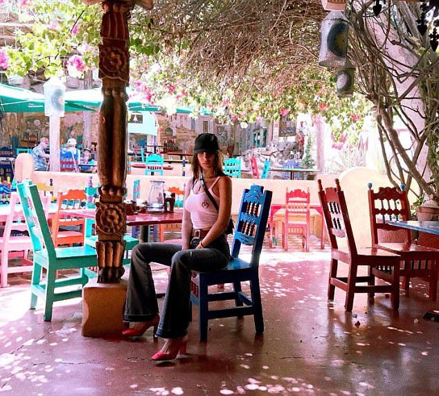 Mexican vacay! She looked to be having a blast as she posed for various shots in the resort town