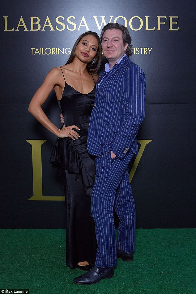 Party people:Viscountess & Viscount Weymouth posed up a storm at the party