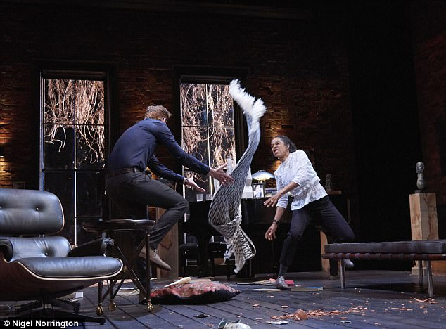 And the rug goes flying: The play features some volatile scenes between its two leads