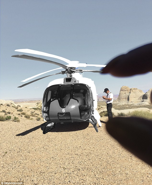 To the skies: They took a helicopter ride into the national park in Arizona