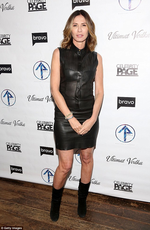 Hell for leather:Carole Radziwill strutted her stuff on the carpet too