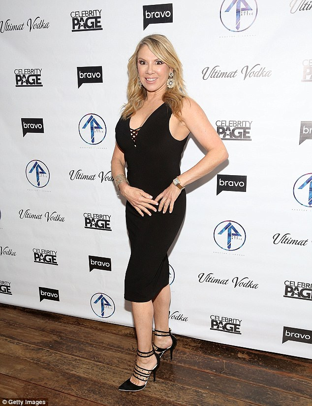 Party time:Ramona Singer led the way at The Attic Rooftop Lounge for the Season nine premiere party for Real Housewives Of New York on Wednesday