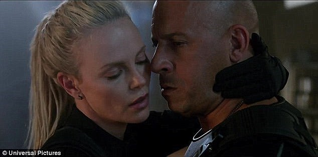 He went on to add of his 41-year-old co-star: 'Charlize Theron is not a bad kissing partner to have. There are worse things that can happen to you.'