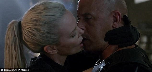 Movie magic:Vin Diesel gushed about multiple takes of the same smooch with Charlize Theron for his upcoming Fate Of The Furious