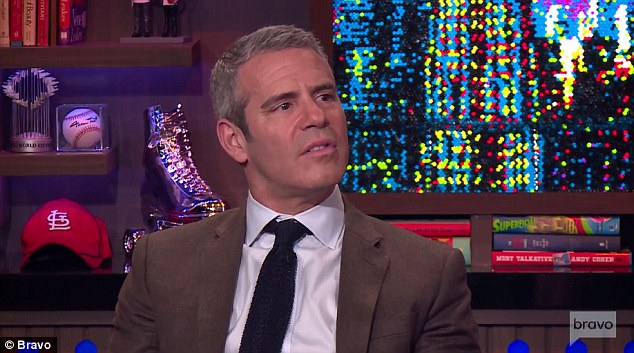 The host: Andy Cohen asked Andy about adjusting to fatherhood