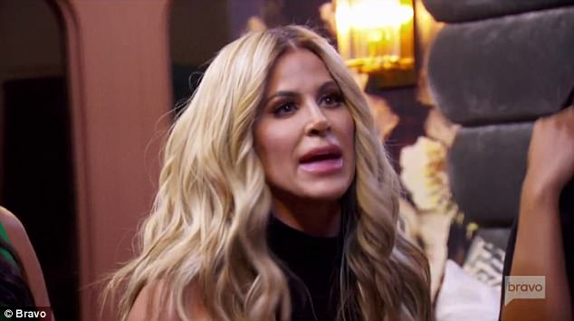 Solid advice: Kim, shown in a teaser for the upcoming RHOA finale, called Jeff and offered advice and products for his new daughter