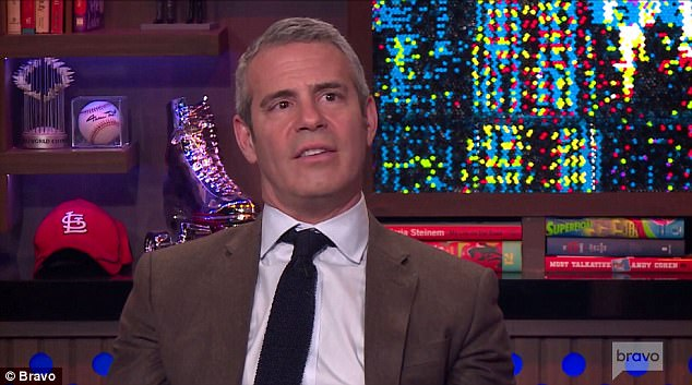 The host: Andy Cohen welcomed the Bravo stars into the clubhouse