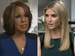 Spilling secrets: Ivanka Trump (above) spoke about her new White House role and her relationship with her father in an interview with 'CBS This Morning' on Wednesday