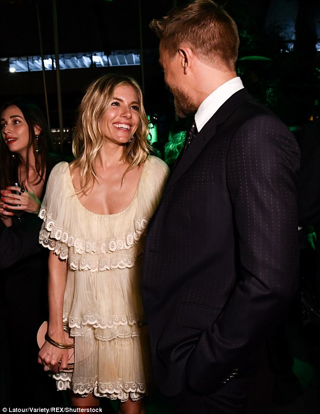 Close bond: He seemed to have had no trouble getting close to Sienna
