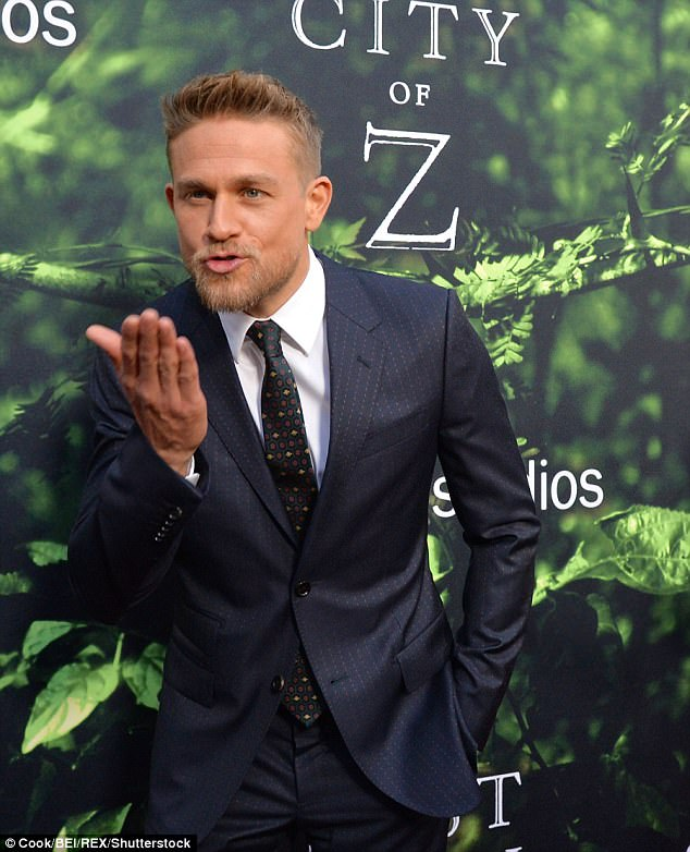 Charming: Charlie spoke out about his co-star just last week
