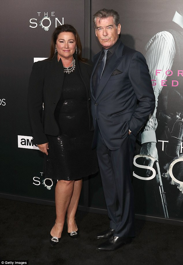 Happy: Now happily remarried to Keely Shaye Smith since 2001, the Remember Me star is father to four sons - Chris, 44, Sean, 33, from his first marriage as well as Dylan, 20, and Paris, 16, with Keely