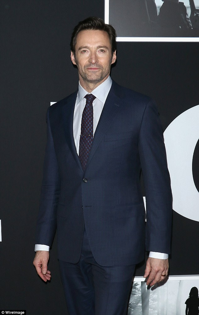 Dashing: The actor cut a handsome figure at a screening of his new film Logan in New York City back in February