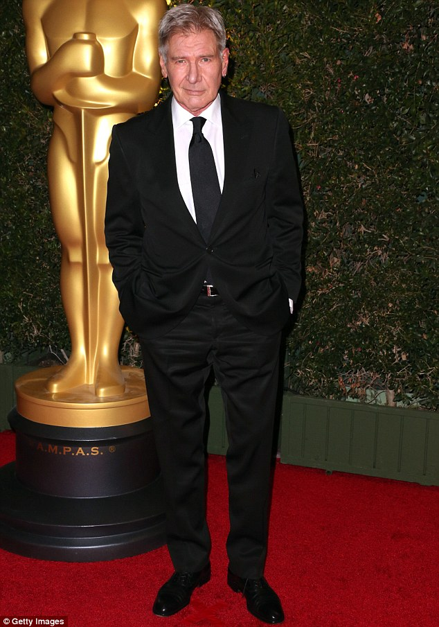 Hollywood star: Harrison Ford, seen here at a glitzy red carpet event in Los Angeles earlier this month, but in a new interview the actor revealed he was told he had no star quality when he started out in the movie industry