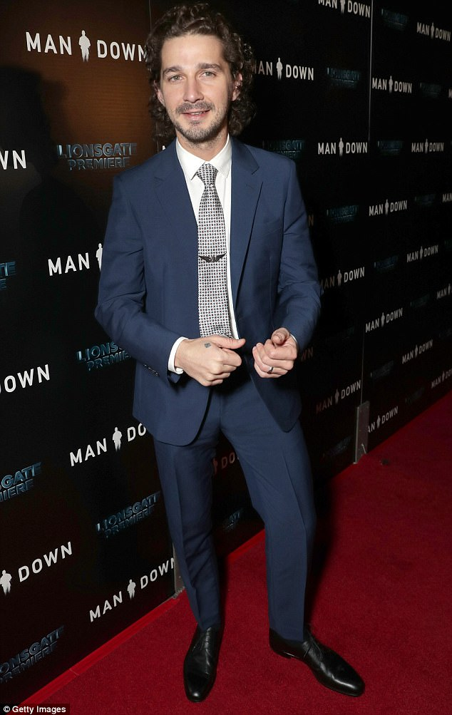Not thinking straight? Reportedly, the former Disney talent had been drinking at the bowling alley for several hours prior to his outburst. Above, you can see him looking atypically polished at the Hollywood premiere of Man Down back in November