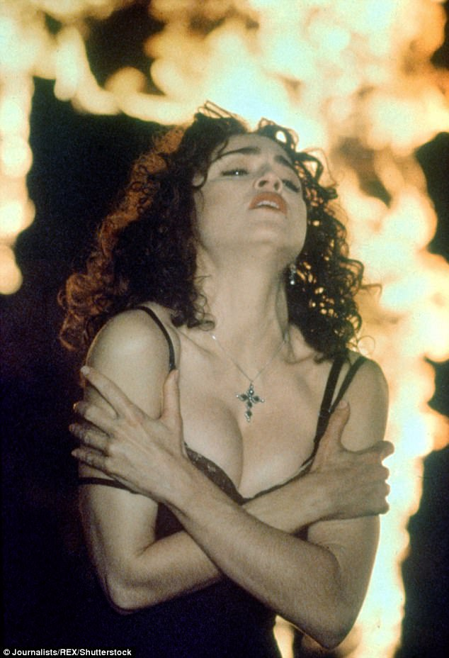 Uh-oh: Unfortunately for Pepsi, Madonna's choice of song was Like A Prayer, the proper video for which was released the very next day, including cross-burning, stigmata and Madonna having sex with a saint