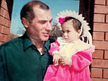A heartbreaking family album photo shows Vitaly Kaloyev and his daugther Diana near their home in Vladikavkaz, Russia