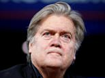 Steve Bannon flatly denied a report that he threatened to quit from the White House, saying it is a 'total lie' planted by Democrats